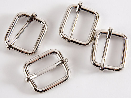 "Chunky 1"" Bag Sliders - Pack of 4 Silver"