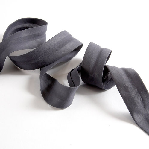 5m Bias Binding - Gunmetal Grey Plain