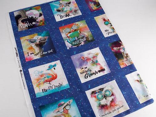Sassier Animals Fabric Panel