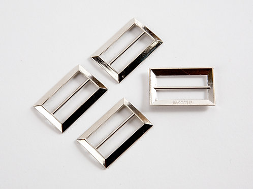 """4 x 1"""" Rectangle Sliders - Silver"""