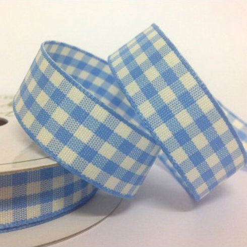Cottage Check Blue Ribbon - 5m Roll