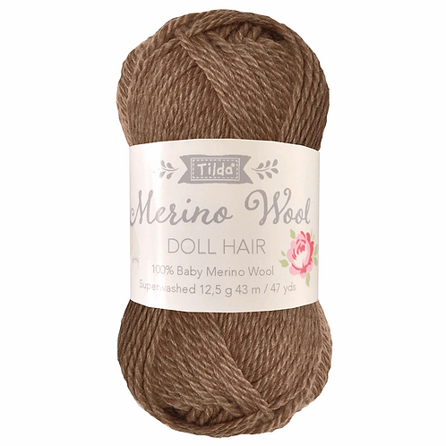 Tilda Doll Hair Yarn - Brown