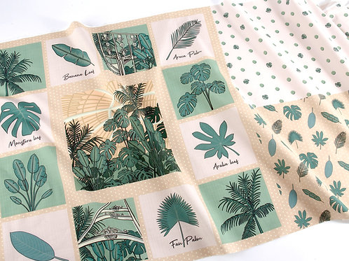 Palm House Sewing Panel - FREE half metre cream fabric  (while stocks last)