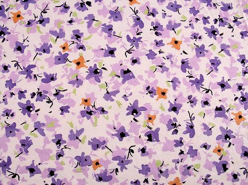 Lilac Flower Print Jersey