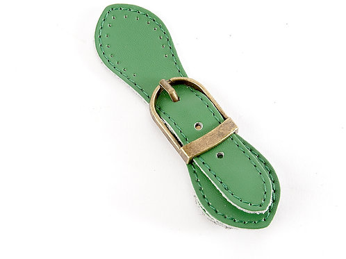 Leather Buckle Magnetic Snap - Bright Green