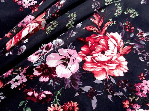 Floral Stretch Viscose Fabric (1 metre piece)