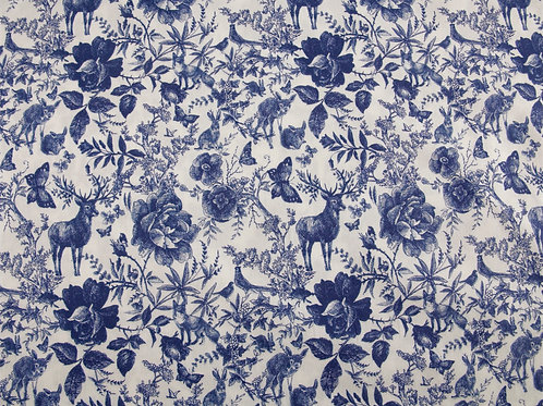 Blue Ink Forest Cotton