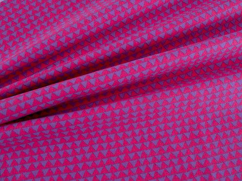 Little Meadow Birds - Pink and Purple Triangles (price per half metre)