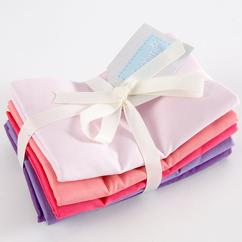 Blush Pink and Purple 5 Fat Quarter Pack