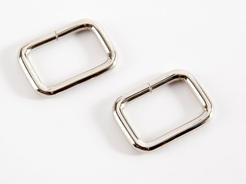 "2 x 1 "" Rectangle Rings - Silver"