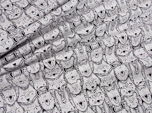 Pacha - Wild Friends by Art Gallery Fabric (price per half metre)