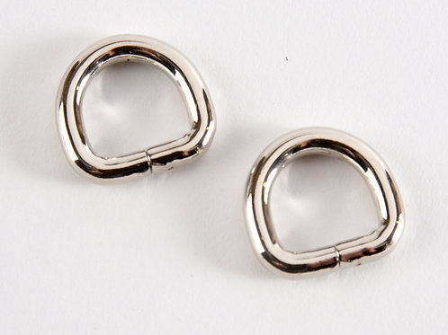 """1/2"""" D rings - Silver Pack of 2"""