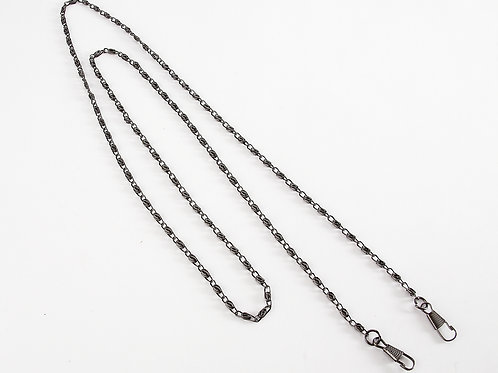 "47"" Metal Lobster Claw Clasp Rope Chain - Gunmetal Grey"
