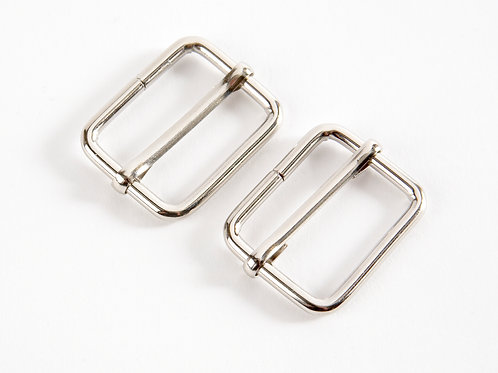 """1"""" Silver Tone Sliders for Bag Straps - Pack of 2"""