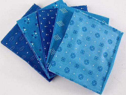 Essential 5 Fat Quarter Pack - Blue