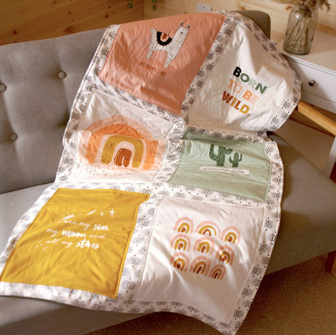 Simple Quilt using the 'Be Wild' Art Gallery Fabric Panel by Kym