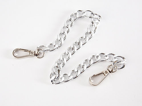 """15"""" Flat Chain with Swivel Clasps - Silver"""