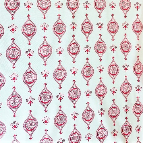 'New Delhi' fabric by Debbie Shore – Indian Tiles Pink
