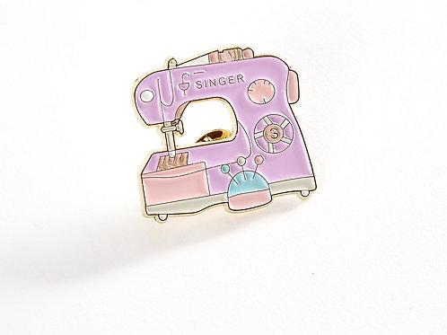 Enamel Pin - Pastel Sewing Machine