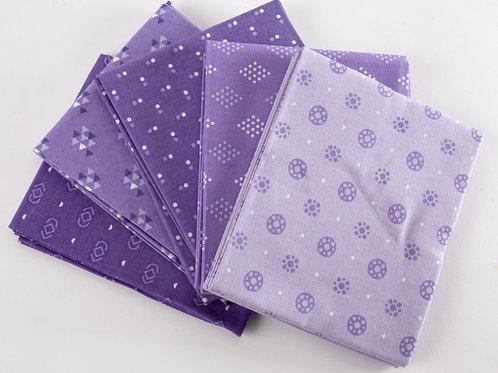 Essential 5 Fat Quarter Pack - Purple