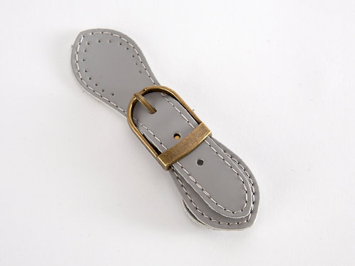 Leather Buckle Magnetic Snap - pale grey