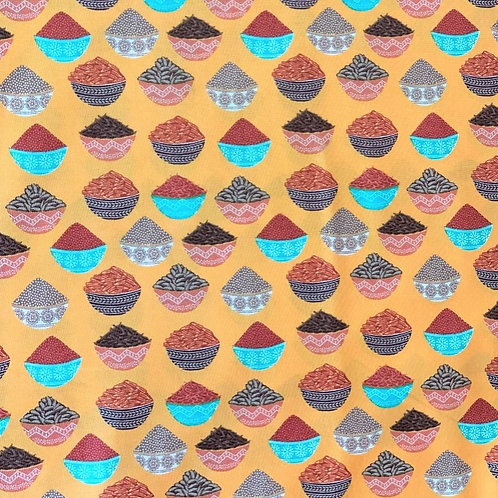 'New Delhi' fabric by Debbie Shore – Indian Spices