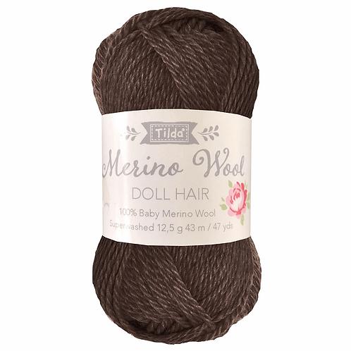 Tilda Doll Hair Yarn - Dark Brown