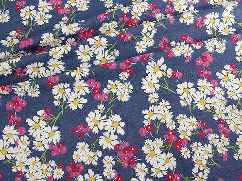 Daisy Flower Print Denim