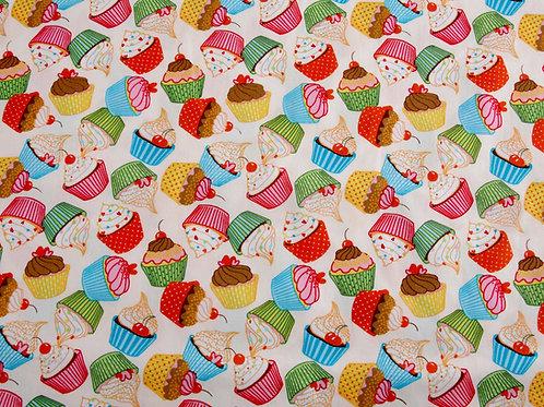 Rainbow Cupcake Cotton Poplin