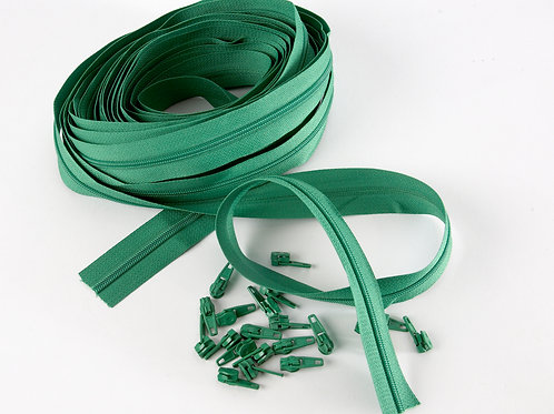 Continuous Zips 10m - Bright green
