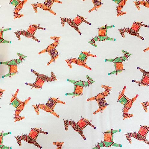 'New Delhi' fabric by Debbie Shore – Indian Horses