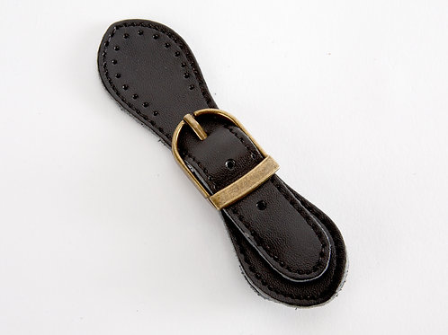 Leather Buckle Magnetic Snap - black