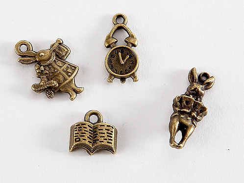 Alice in Wonderland Charm -  Read Me 4