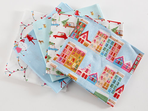 Christmas Town 5 Fat Quarter Pack