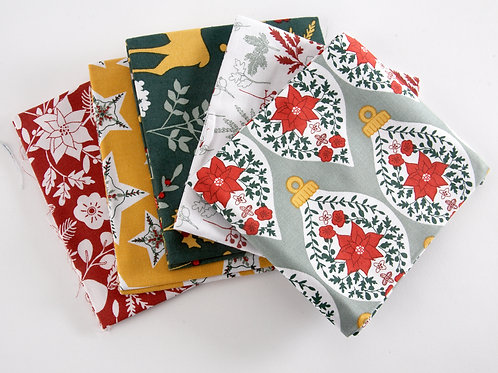 Holiday Folkore Christmas 5 Fat Quarter Pack