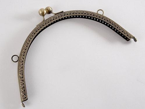 'Judy' Kiss Clasp Bag Frame - Bronze 20cm