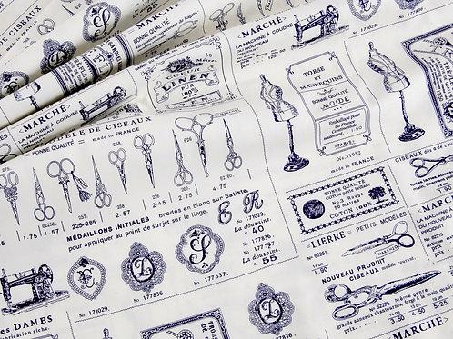 Vintage French Sewing Cotton Poplin (price per half metre)