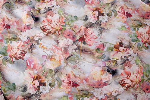 Painted Flowers Viscose