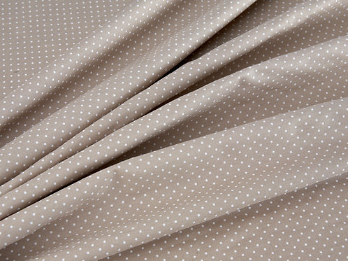 Beige and White Pin Spot Cotton