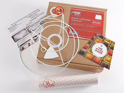 "Empire Lampshade Making Kit - 25cm for table lamp (4"" Shade Carrier Included)"