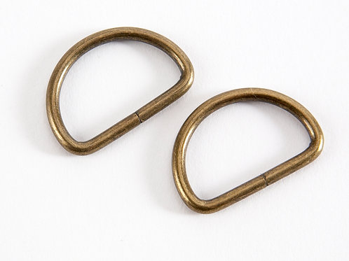 "1"" Gold Tone D Rings - Pack of 2"