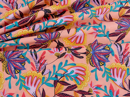 Tropical Leopard - Tropical Flowers (price per half metre)