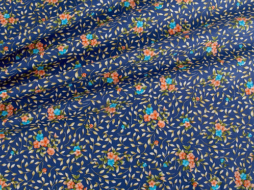 Midnight Posies Cotton Poplin (price per half metre)