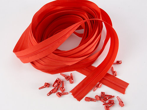 Continuous Zips 10m - Red