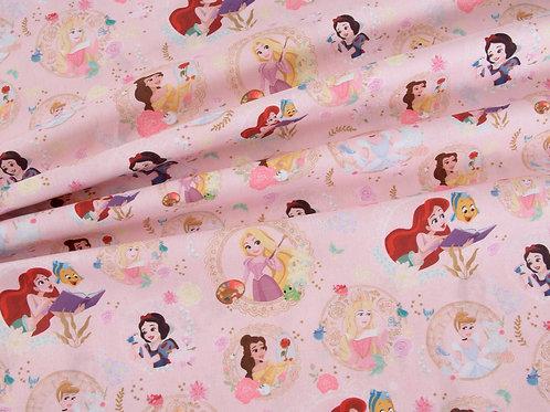Disney Pink Princess Party Cotton (price per half metre)