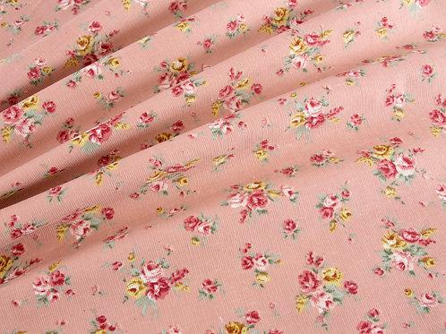 Ditsy Roses Babycord - Pink (price per half metre)