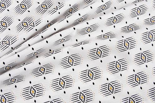 Pacha - White Aztec by Art Gallery Fabrics (price per half metre)