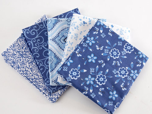 Delft Blue 5 Fat Quarter Pack