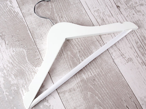 Small White Coat Hanger