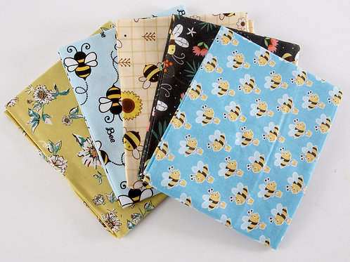 So Buzzy Bees 5 Fat Quarter Pack